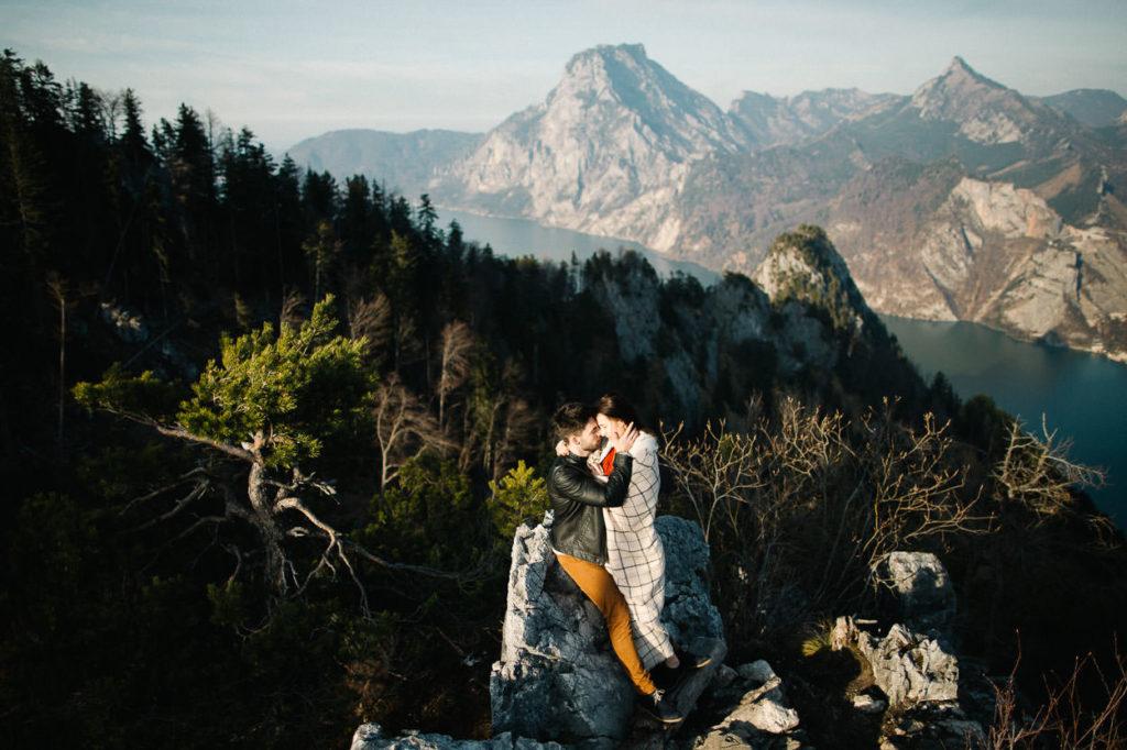 Paar-Fotoshootings auch am Berg.